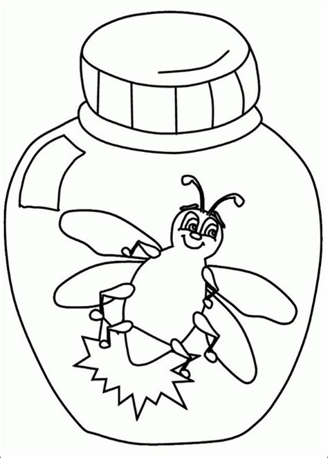 l is for lightning bug coloring page coloring pages