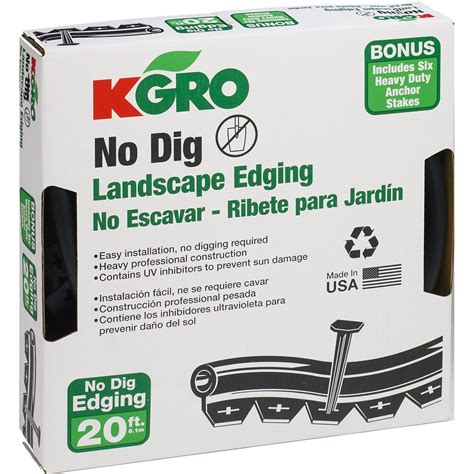 Landscape Edging Anchors Kgro No Dig 20 Landscape Edging Includes 6 Anchor