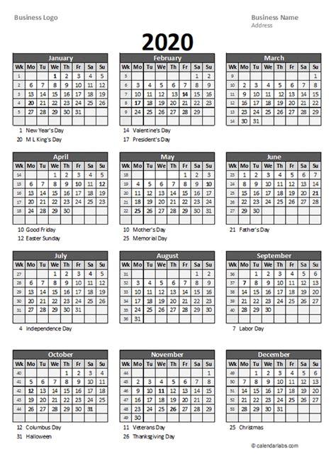 yearly business calendar  week number  printable templates calendar  week