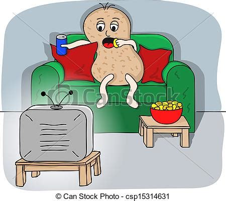 couch potato clipart vectors of couch potato vector illustration of a couch