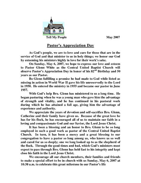 Donation Letter For Pastor Appreciation Pastor Appreciation Letter Template Pastors Appreciation Day Pastor Letter