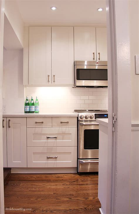 custom white kitchen cabinets reveal of our ikea kitchen remodel and how it looks