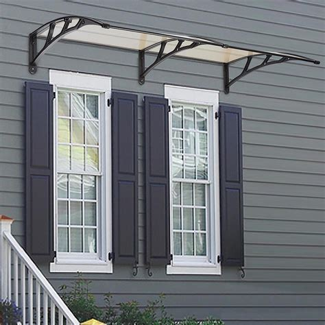 back door awnings 190x80cm front back window door canopy outdoor awning rain
