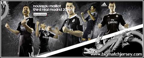 Kaos Ronaldo Black jersey real madrid 3rd third 2014 2015 big