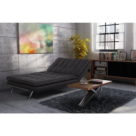 home depot futon dhp madison dark gray futon 2084427 the home depot