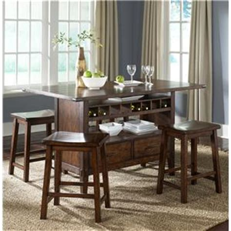 liberty furniture cabin fever center island pub table with
