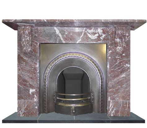 antique burnished arched cast iron fireplace insert