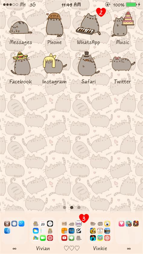 themes cute iphone 5 cute iphone themes the pusheen cat