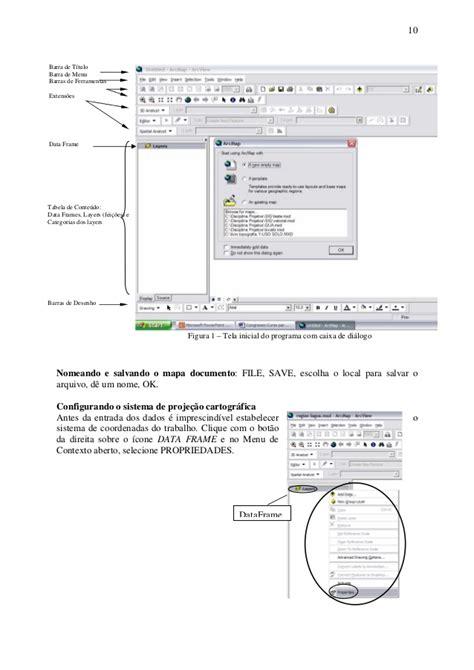 salvar layout arcgis apostila projeto geo 2005