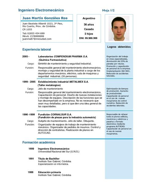 Modelo Curriculum Vitae Word Camarero Ejemplos De Curriculum More Photos