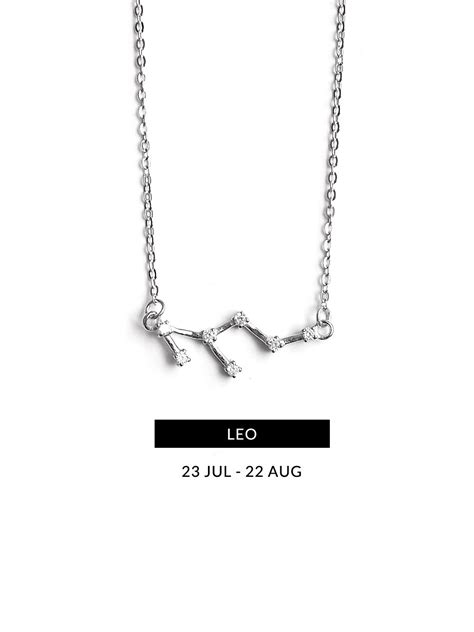 Premium Necklace back in stock premium leo zodiac constellation necklace arva co