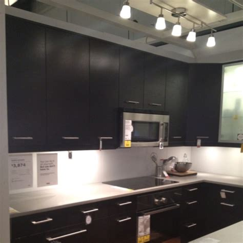 Pin By Tiffany Sson On Kitchens I Love Pinterest Ikea Black Kitchen Cabinets