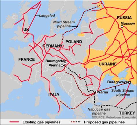 russia europe gas pipelines map inicio elcano