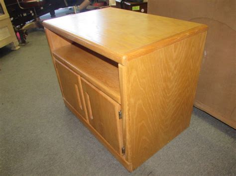 oak microwave stand with hutch lot detail sturdy oak veneer microwave cabinet