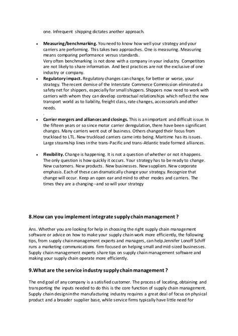 supply chain management experts best chain 2018