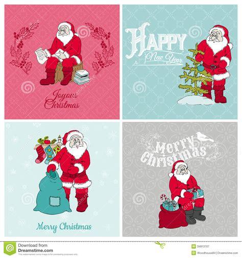 free christmas cards santa claus cards santa claus christmas cards royalty free stock photography