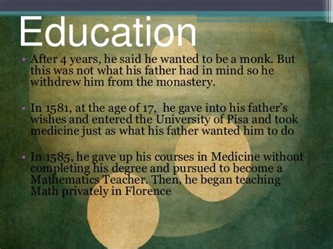 galileo galilei education biography galileo galilei
