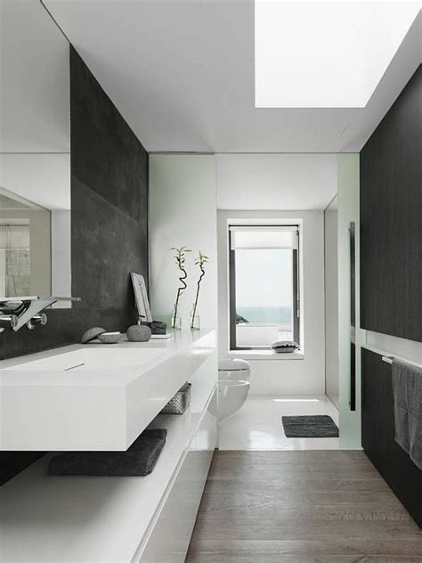 Black And White Modern Bathroom Bathroom Palette Black White