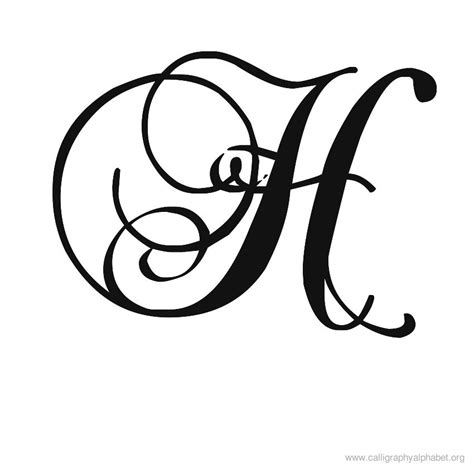 letter h tattoo designs calligraphy alphabet h fonts calligraphy