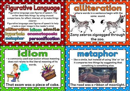 Printable Personification Poster | free printable figurative language posters showing