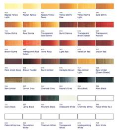 paint names gallery for gt oil paint color names
