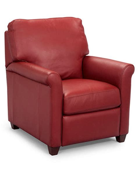 macys leather recliner chair pavia leather club recliner chair furniture macy s
