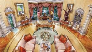 Trump White House Decoration Cherubs Marble And Louis Xiv What Donald Trump S Oval
