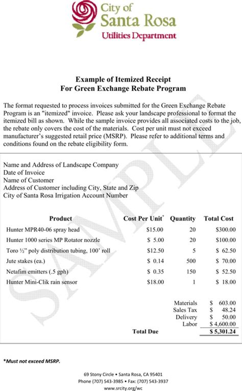 itemized receipt templatesforms  receipt template receipt template resume
