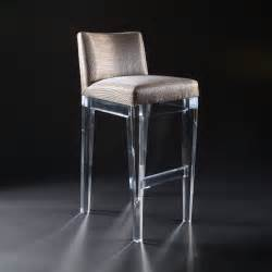 upholstered clear bar stool with back decofurnish