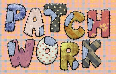Patchwork Font - patchwork text effect graphics tutorials