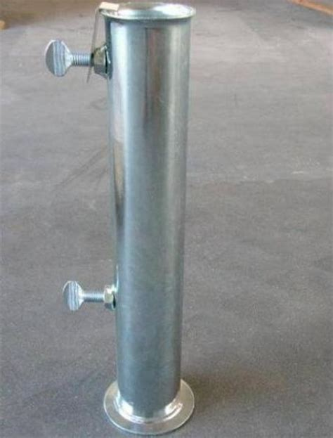 ricambi ombrelloni da giardino supporto tubolare per base ombrellone in ferro zincato d