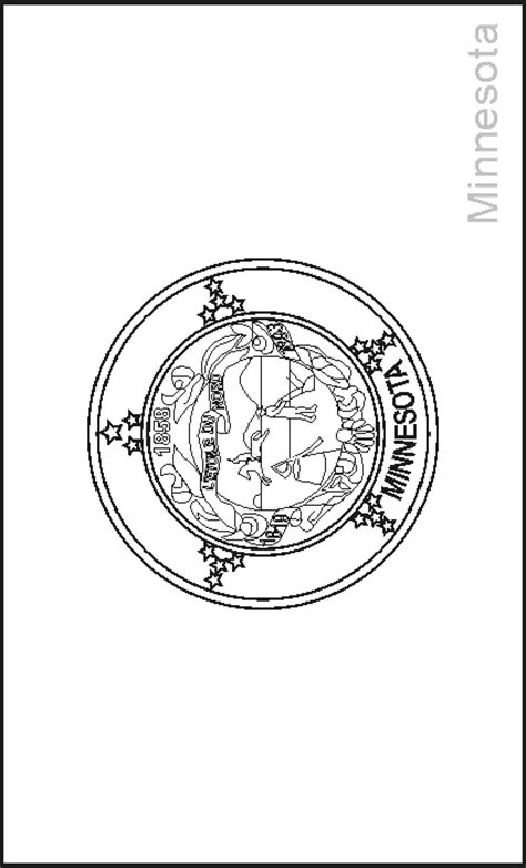 state flag of minnesota coloring pages