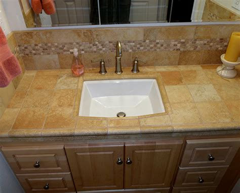 Tile Vanity Top by Project Gallery