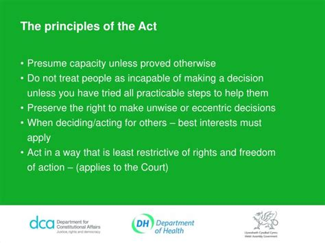 Mental Capacity Act Section 5 by Ppt The Mental Capacity Act 2005 Powerpoint Presentation