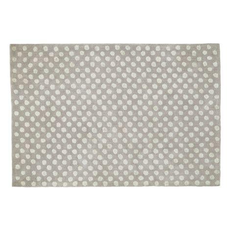 gray polka dot rug dolly cotton polka dot rug in grey 120 x 180cm maisons du monde