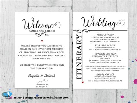 Diy Wedding Welcome Bag Note Welcome Bag Letter Printable Wedding Welcome Note Template