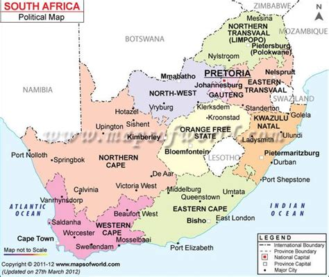 south africa map with 9 provinces south africa map there are 9 provinces in south africa