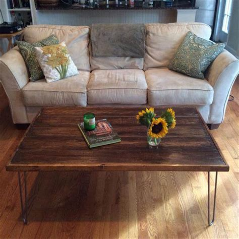 diy pallet coffee table legs diy pallet coffee table with metal hairpin legs 101 pallets