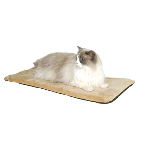 k h thermo kitty heated cat bed k h pet products thermo kitty mat small sage heated cat
