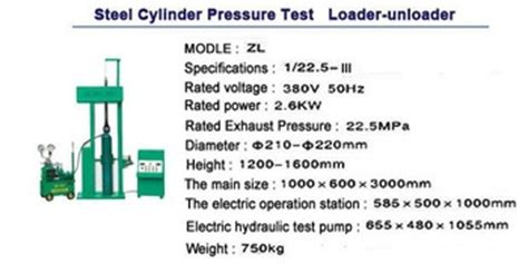 hydrostatic test bench cng cylinder hydrostatic test bench equipment cng cylinder hydraulic test bench