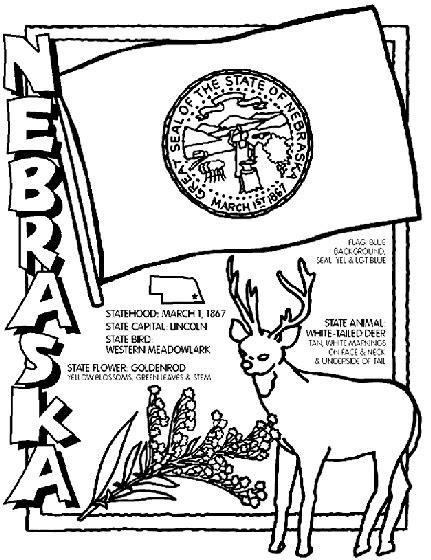 crayola coloring pages states nebraska coloring page crayola com