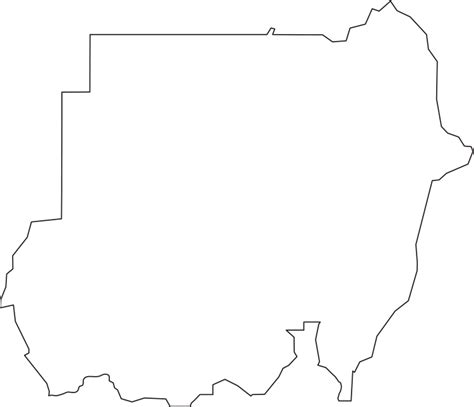 South Sudan Map Outline by Sudan Outline Map