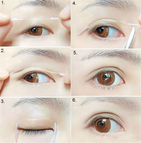 double eyelid how to create bigger eyes with double eyelid trick
