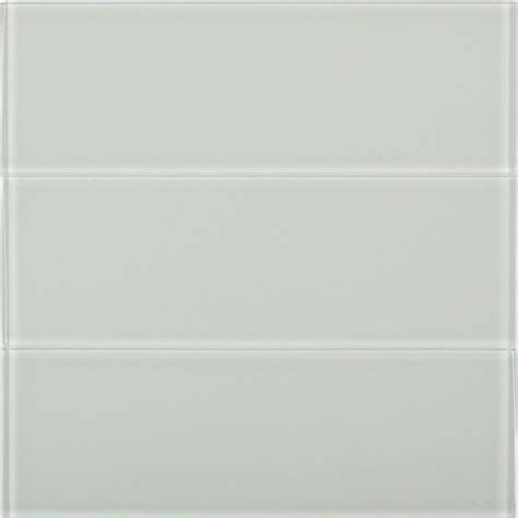 splashback tile bright white 4 in x 12 in x 8 mm polished glass subway floor and wall tile