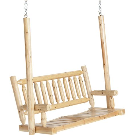 cedar log swing deluxe cedar log porch swing www kotulas com free shipping