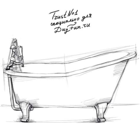 Bathtub Drawings by How To Draw A Bathtub Step By Step Arcmel
