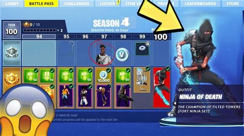 fortnite season 4 season 4 battle pass leaked items in the new battle