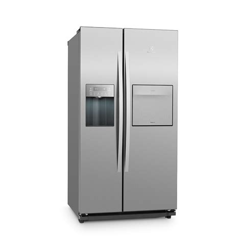 side by side mit eiswürfelbereiter geladeiras geladeira inox free e mais shopf 225 cil