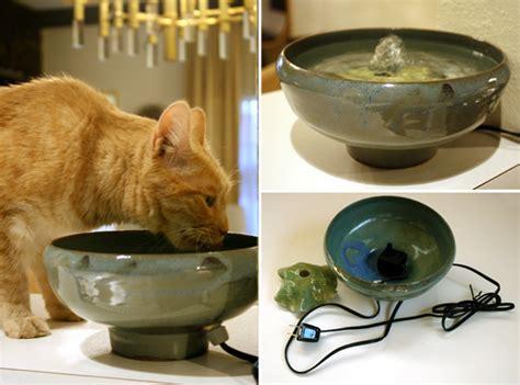 House Designs Kitchen Handmade Ceramic Cat Drinking Fountains Hauspanther
