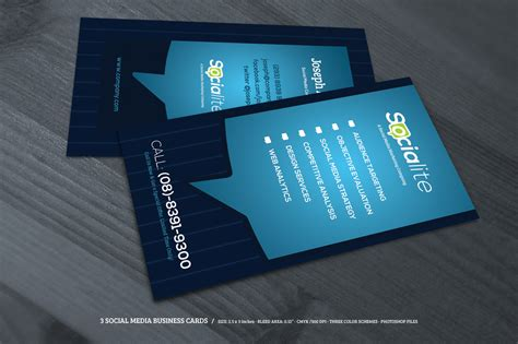 social media business cards free template preview 02 creative market 3 social media business cards o